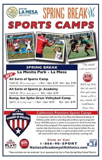 Flyer Spring Break Sports Camps