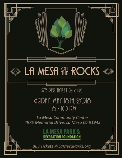 La Mesa on the Rocks flyer